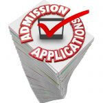 admissions application checkbox